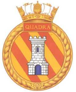 HMCS Quadra Ship's Crest
